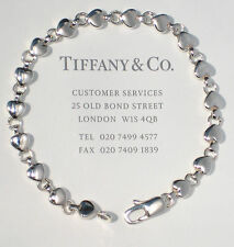 Tiffany & Co Heart Link Continuous Heart Sterling Silver Bracelet
