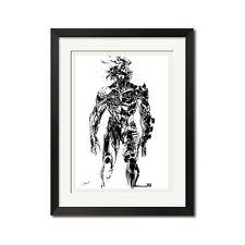 Yoji Shinkawa x Metal Gear Rising Raiden Ink Brush Poster Print