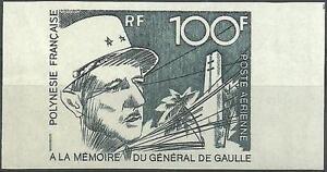 POLYNESIE (Non Dentelé) - Timbre Neuf** - PA N° 70 // 1972 (Général DE GAULLE)