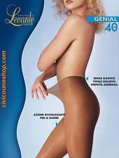 Levante Collant Donna - Genial 40 Calze 40 den senza Elastico in Vita Nero 4
