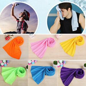 Cold  Men And Women Gym Cooling Ice Beach Towel Club Yoga Sports Washcloth au