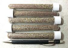 sand - set of five tubes of garnetiferous sand from Pfeiffer Beach, California
