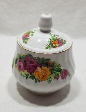 Regent China English Rose Sugar Bowl with Lid Gold Trim Rose Flower Design