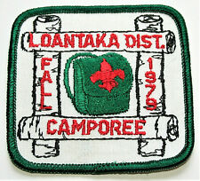 Fall 1979 BSA Boy Scouts Camporee Loantaka Dist Patch NOS