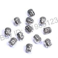 10Pcs Tibetan Silver Skull Charm Loose Spacer Beads Jewelry Findings 10x8MM M880