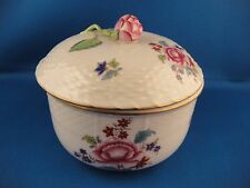 Herend Hungary Nanking Bouquet Multiple Color Porcelain Covered Sugar Bowl