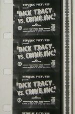 DICK TRACY VS. CRIME INC DEAD MAN'S TRAP  #4 B&W 16MM FILM ROLLED NO REEL F3