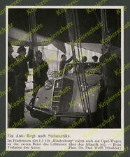 Dr. Wolff Weltflughafen Frankfurt Zeppelin LZ 129 Auto Fracht Opel Olympia 1936