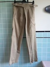 More details for 1950s vintage british army tropical khaki 1950 pattern trousers 34-36