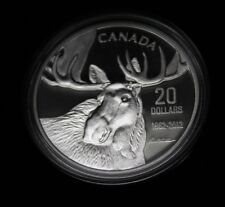 2012 $20 Fine Silver Bull Moose From The Moose Family