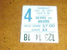 1973 Chicago Bears v Houston Oilers Football Ticket 10/28 Dick Butkus Td