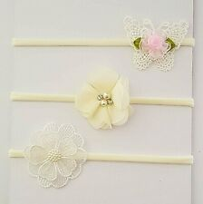 3 X Headband Baby Girl Newborn Toddler Bow Nylon Hair Band Hair Accessory