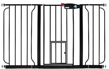 NEW Carlson Walk Through Gate with Door For Kids and Pets Black Extra-Wide