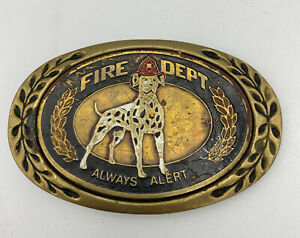 Heritage Buckles Fire Dept. Always Alert Belt Buckle Well Worn Well Loved