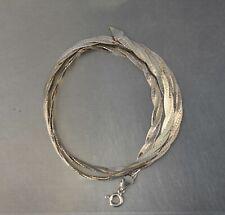 Estate Necklace 1 00004000 7-17.75 8.6g x22 CrazieM 925 Silver Vintage Southwest