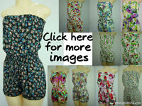 SEXY floral print rompers/jumpsuits many different colors and designs (S,M,L)