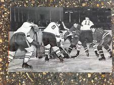 "1952 VINTAGE EHL HOCKEY PHOTO NEW YORK ROVERS VS JOHNSTON JETS 12""X8"""