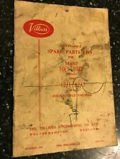 VILLIERS MARK 10/1 /2 98cc 12/1 /2 120cc ILLUSTRATED SPARE PARTS BOOK MANUAL '62