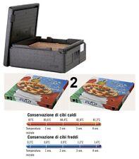 Pizzaballenbox ECO BIANCO impasto contenitore contenitore impilabile cesto teigbox 60 x 40 x 7 cm gastlando
