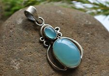 GENUINE CHALCEDONY 925 STERLING SILVER PENDANT