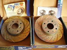 Honda Legend & Rover 800 EBC Performance Front Brake Discs Dimpled & Slotted NOS