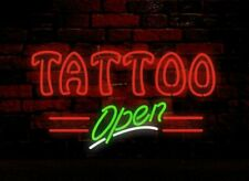 "New Tattoo Open Neon Sign Light Lamp Pub Gift 20""x16"""
