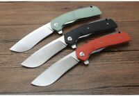 "5.1"" G10 Handle ball bearing Flipper Folding Knife with 440C Blade Pocket Knife"