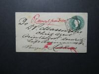 India 1887 1/2 Anna Stationery Cover Used - Z11674