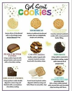 💕2021 GIRL SCOUT COOKIES- MUST BUY SIX / 6 or MORE BOXES Your Choice ABC Bakers