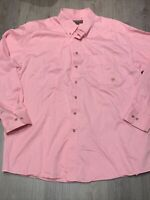 Ariat Mens Long Sleeve Button Down Pink Western Rockabilly Shirt Size 2XL