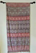 Vintage Indonesian warp ikat Hinggi textile weaving from Sumba island, Indonesia