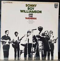 Sonny Boy Williamson & The Yardbirds - 1975 blues LP record VG+, cover G+
