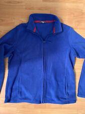 Ladies M&S Blue Fleece Top Size 16