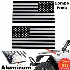 3D Metal American Flag Sticker Decal Mirrored Reverse Car Bike Truck Emblem