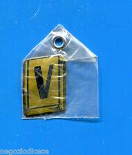 """KICA - Sorprese Decalcomania Figurina-Sticker anni 60 - LETTERA """"V"""" RETTANGOLARE"""