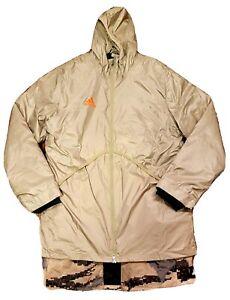 Men's adidas Tan Adv Laycoat Reversible Khaki Camo Size Large EI7398