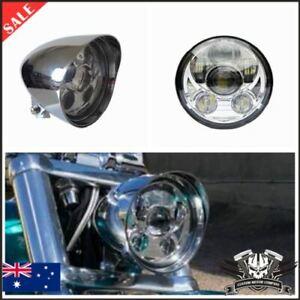 "5.75"" Chrome alloy LED daymaker bullet headlight Harley DYNA FXD SUPER GLIDE FXR"