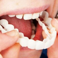 New 2Pcs Comfort Fit Flex White Fake Teeth Top Veneer Denture for Men Women Oral