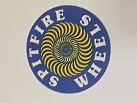 "Spitfire Skateboard Sticker, 3"". SPITFIRE WHEELS, THE END, Series 942-10222018"