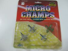 5-VINTAGE DIL MICRO CHAMPS AVIONES-COMPATIBLE CON MICROMACHINE Y TENTE-OLD STOCK