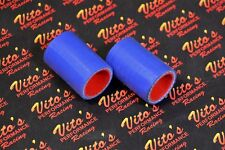 """2 x Vito's Yamaha Banshee exhaust pipe clamps 1 1/8"""" Shearer CPI BLUE silicone"""