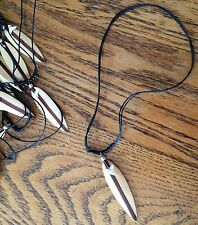 HAND MADE NECKLACE FROM INDONESIA Surfboard shark tooth bed rope new