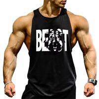 Gym Men Workout Bodybuilding Tank Tops Clothing Fitness Sleeveless Muscle Fit