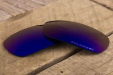Dark Purple Blue Violet Polarized Mirrored Replacement Lenses for Oakley Inmate