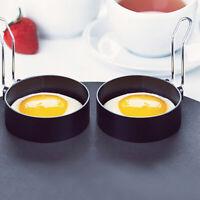 2Pcs Antihaft Omelettform Griff Runde Pfannkuchenform Ei Bratform