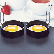 2x Nonstick Fried Egg Mold with Handle Round Pancake Molds Eggs Frying Mould PG