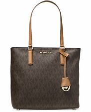 NEW Michael Kors MK Signature Print Medium BROWN Morgan Tote~MSRP$228
