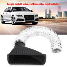 Universal Car Auto Turbo Air Intake Turbine Inlet Pipe Air Funnel Carbon Fiber