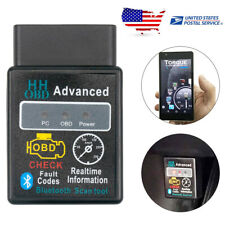 US Car Bluetooth ELM327 OBD2 OBDII Diagnostic Scanner Code Reader For BMW BENZ