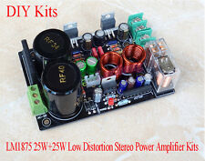 LM1875 25W+25W Low Distortion Stereo Power Amplifier DIY Kit For Gaincard Design